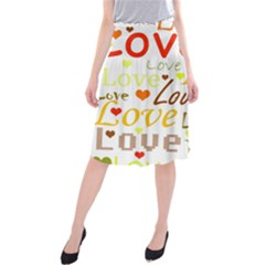 Valentine s day pattern Midi Beach Skirt