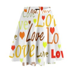 Valentine s day pattern High Waist Skirt