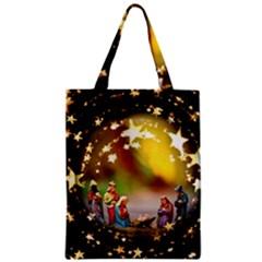 Christmas Crib Virgin Mary Joseph Jesus Christ Three Kings Baby Infant Jesus 4000 Zipper Classic Tote Bag