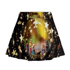 Christmas Crib Virgin Mary Joseph Jesus Christ Three Kings Baby Infant Jesus 4000 Mini Flare Skirt