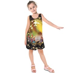 Christmas Crib Virgin Mary Joseph Jesus Christ Three Kings Baby Infant Jesus 4000 Kids  Sleeveless Dress