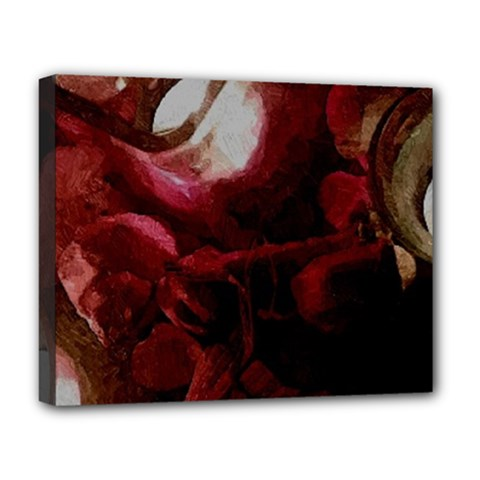 Dark Red Candlelight Candles Deluxe Canvas 20  x 16