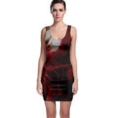 Dark Red Candlelight Candles Sleeveless Bodycon Dress
