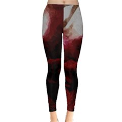 Dark Red Candlelight Candles Leggings