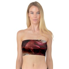 Dark Red Candlelight Candles Bandeau Top