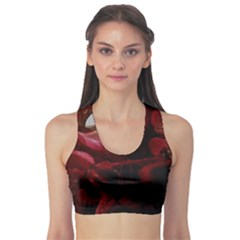 Dark Red Candlelight Candles Sports Bra