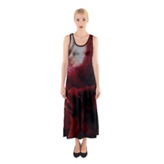 Dark Red Candlelight Candles Sleeveless Maxi Dress