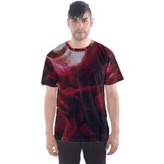 Dark Red Candlelight Candles Men s Sport Mesh Tee