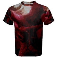 Dark Red Candlelight Candles Men s Cotton Tee