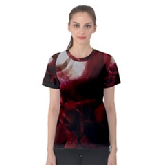 Dark Red Candlelight Candles Women s Sport Mesh Tee