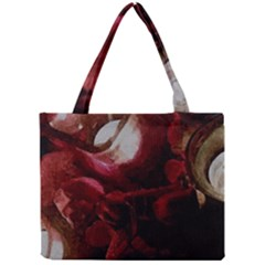 Dark Red Candlelight Candles Mini Tote Bag