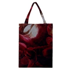 Dark Red Candlelight Candles Classic Tote Bag