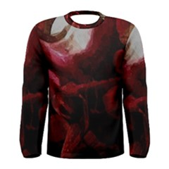 Dark Red Candlelight Candles Men s Long Sleeve Tee