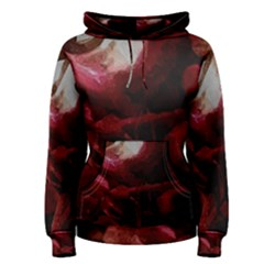 Dark Red Candlelight Candles Women s Pullover Hoodie