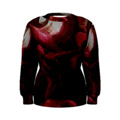 Dark Red Candlelight Candles Women s Sweatshirt