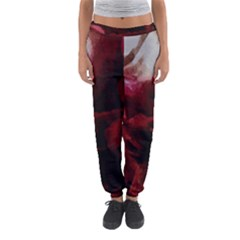 Dark Red Candlelight Candles Women s Jogger Sweatpants