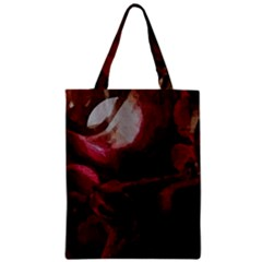 Dark Red Candlelight Candles Zipper Classic Tote Bag