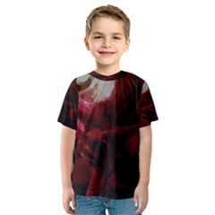 Dark Red Candlelight Candles Kids  Sport Mesh Tee