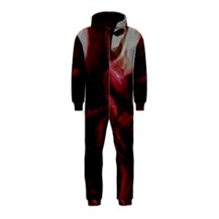 Dark Red Candlelight Candles Hooded Jumpsuit (Kids)