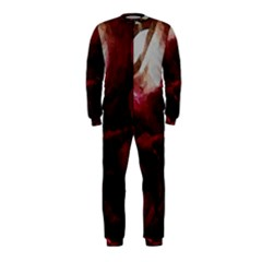 Dark Red Candlelight Candles OnePiece Jumpsuit (Kids)