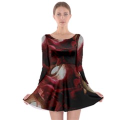Dark Red Candlelight Candles Long Sleeve Skater Dress