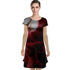 Dark Red Candlelight Candles Cap Sleeve Nightdress