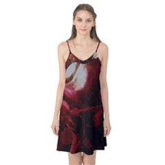Dark Red Candlelight Candles Camis Nightgown