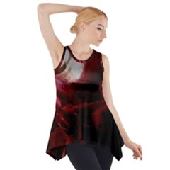 Dark Red Candlelight Candles Side Drop Tank Tunic