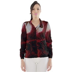 Dark Red Candlelight Candles Wind Breaker (Women)