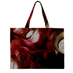 Dark Red Candlelight Candles Large Tote Bag