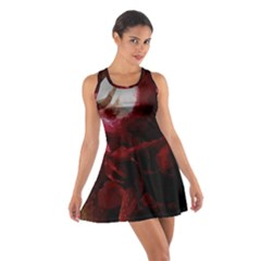 Dark Red Candlelight Candles Cotton Racerback Dress