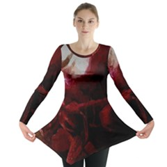 Dark Red Candlelight Candles Long Sleeve Tunic