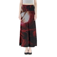 Dark Red Candlelight Candles Maxi Skirts