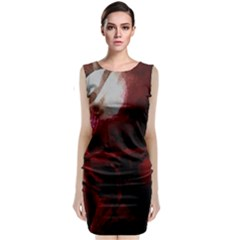 Dark Red Candlelight Candles Classic Sleeveless Midi Dress