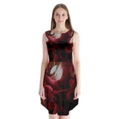 Dark Red Candlelight Candles Sleeveless Chiffon Dress