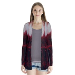 Dark Red Candlelight Candles Cardigans