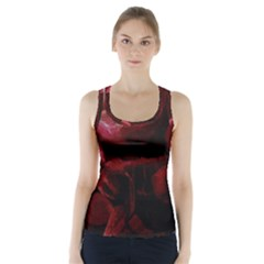 Dark Red Candlelight Candles Racer Back Sports Top