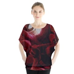 Dark Red Candlelight Candles Blouse