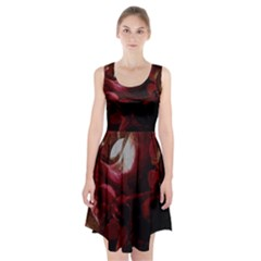 Dark Red Candlelight Candles Racerback Midi Dress
