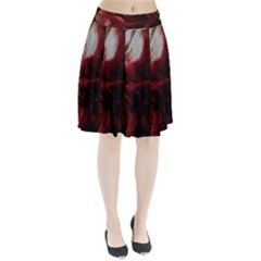 Dark Red Candlelight Candles Pleated Skirt