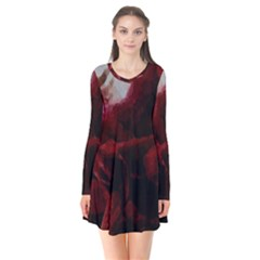 Dark Red Candlelight Candles Flare Dress