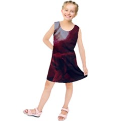 Dark Red Candlelight Candles Kids  Tunic Dress