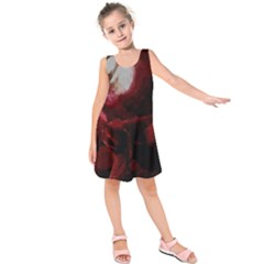 Dark Red Candlelight Candles Kids  Sleeveless Dress