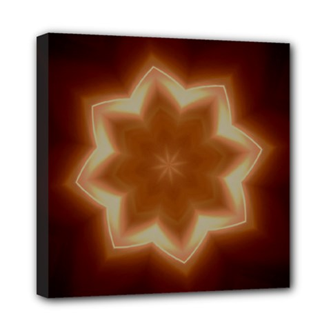 Christmas Flower Star Light Kaleidoscopic Design Mini Canvas 8  x 8
