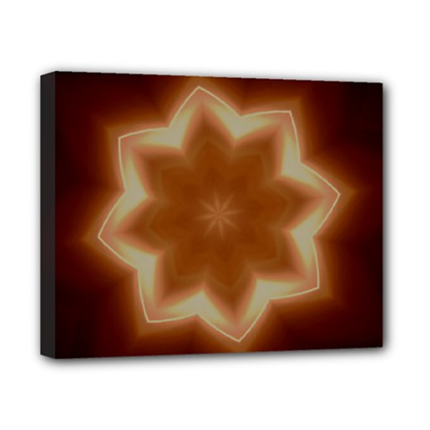 Christmas Flower Star Light Kaleidoscopic Design Canvas 10  x 8