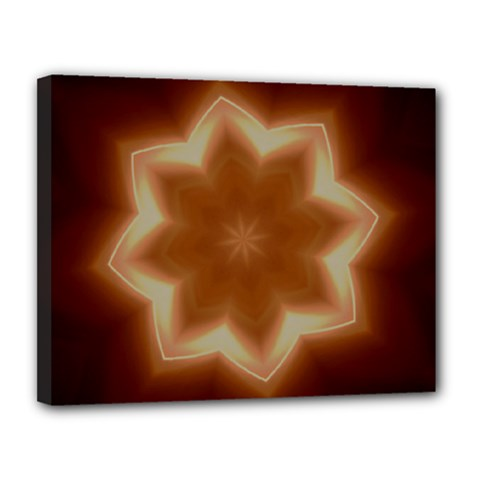 Christmas Flower Star Light Kaleidoscopic Design Canvas 14  x 11