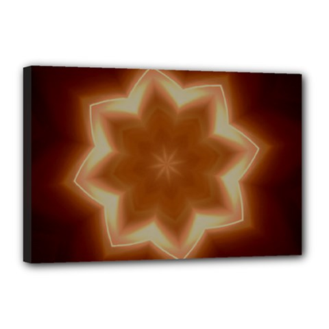 Christmas Flower Star Light Kaleidoscopic Design Canvas 18  x 12