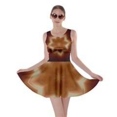 Christmas Flower Star Light Kaleidoscopic Design Skater Dress