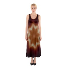 Christmas Flower Star Light Kaleidoscopic Design Sleeveless Maxi Dress