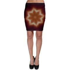 Christmas Flower Star Light Kaleidoscopic Design Bodycon Skirt